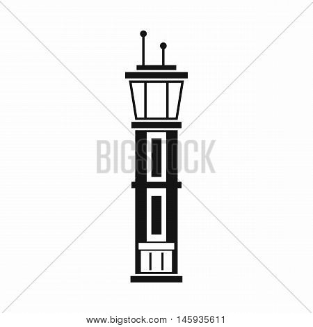 Airport control tower icon in simple style isolated on white background vector illustration