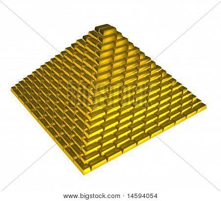 Gold Ingots Pyramid