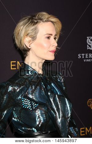 LOS ANGELES - AUG 22:  Sarah Paulson at the Television Academy's Performers Peer Group Celebration at the Montage Hotel on August 22, 2016 in Beverly Hills, CA