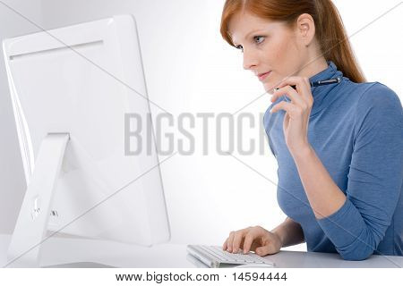Modern Office - Young Business Woman
