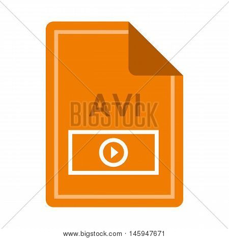 File AVI icon in flat style isolated on white background. Document type symbol vector illustration