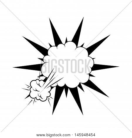 explosion comic pow expression bomb bam boom effect vector illustration poster