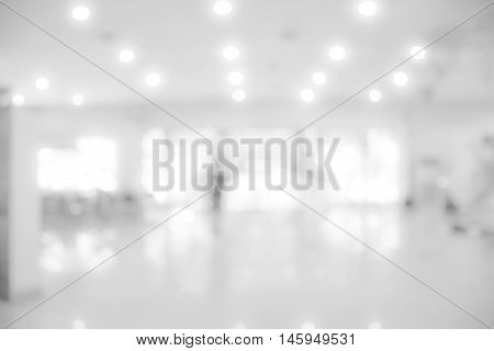 Interior blur background with bokeh image / White blur background / grey abstract background