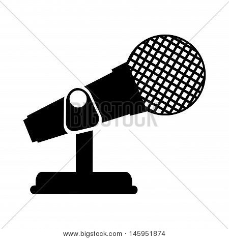 microphone mic audio mike sound button technology communication vector illustration
