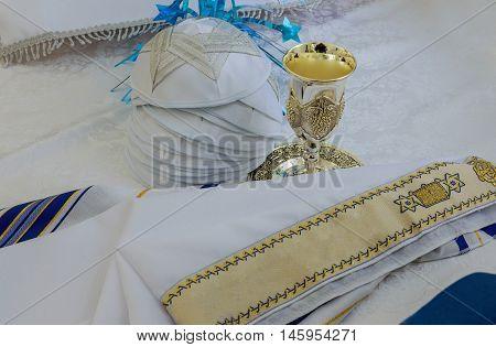 Bar Mitzhvah jewish religious symbol Prayer Shawl - Tallit Jewish religious symbol