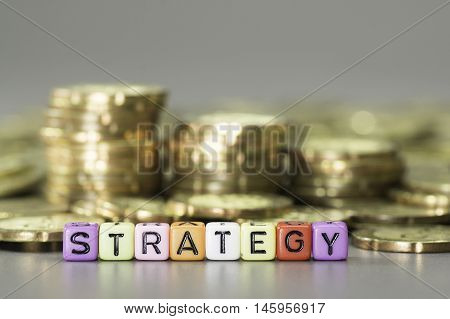Strategy Text And Gold Coins