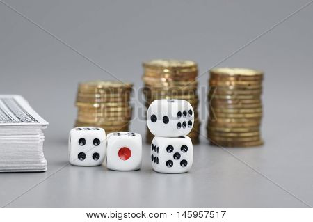 Dices And Gold Coins