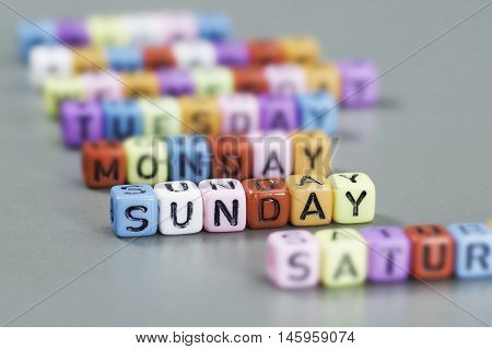 Sunday Text On Dice