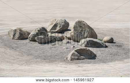 Group Of Heavy Stone For Zen Garden Underconstruction