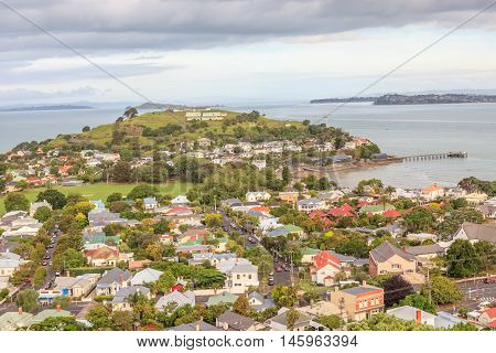 The beautiful view point of Mount Victoria reserve Devonport Auckland New Zealand.