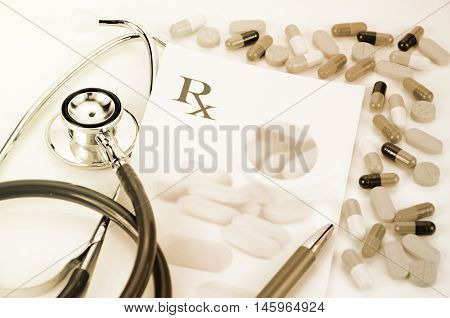 Prescription Medication Concept.