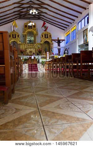 Catholic Church In Machu Pichu