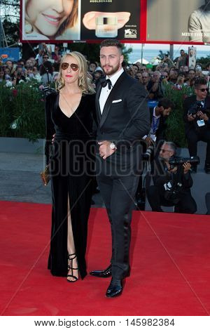 Aaron Taylor-Johnson, Sam Taylor-Johnson  at the premiere of Nocturnal Animals at the 2016 Venice Film Festival. September 2, 2016  Venice, Italy