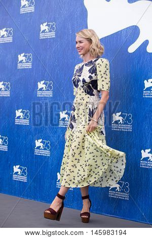 Naomi Watts  at the photocall for The Bleeder at the 2016 Venice Film Festival. September 2, 2016  Venice, Italy