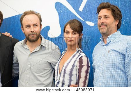 Michael Fassbender, Alicia Vikander  at the photocall for The Light Between Oceans at the 2016 Venice Film Festival. September 1, 2016  Venice, Italy