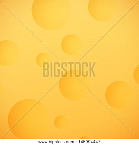 Lunar Surface Background, Yellow Moon, Space Planet with Craters , Vector Illustration