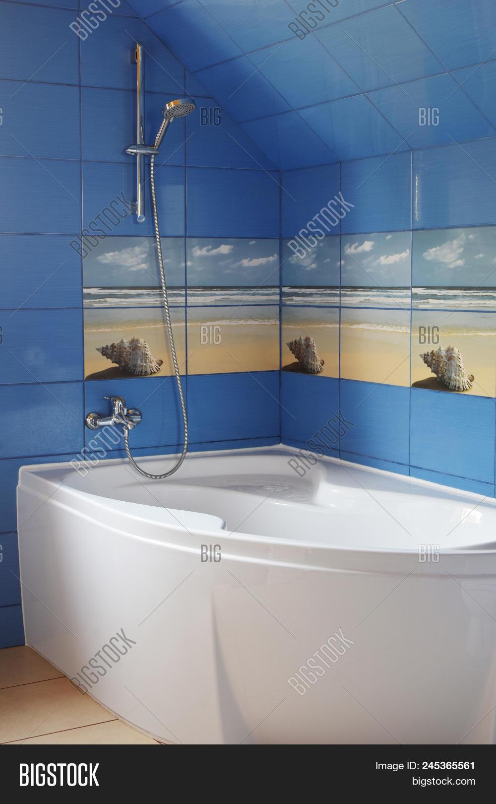 Modern Blue Tile Image Photo Free