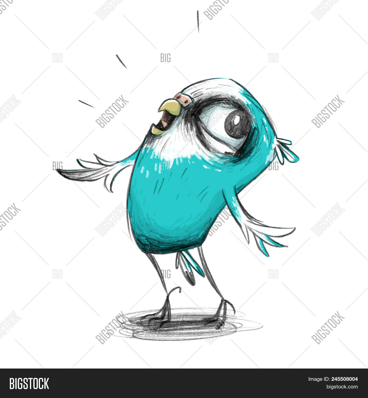 Cute Cartoon Budgie Image & Photo (Free Trial) | Bigstock