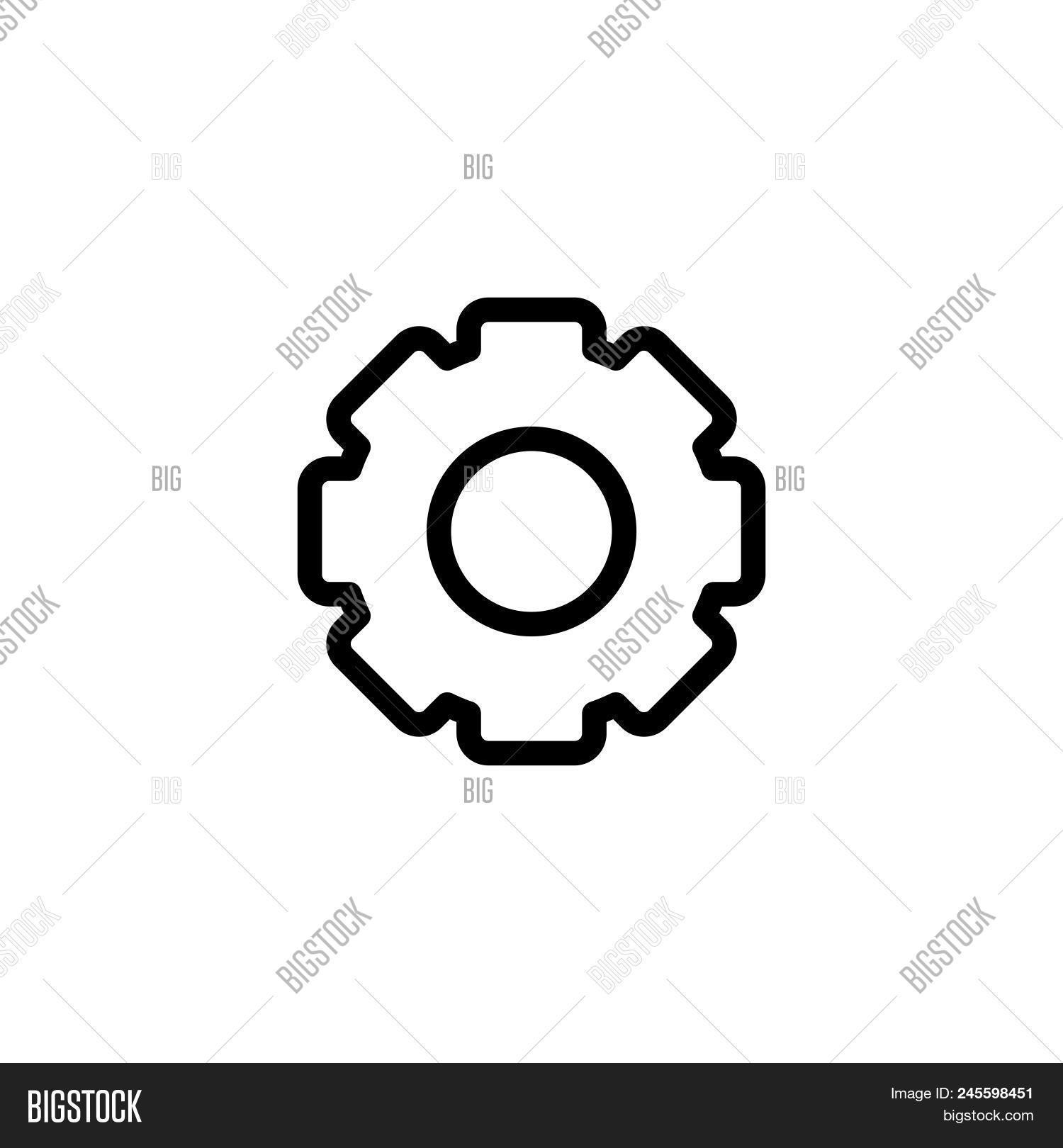 Cog Vector Icon On Vector & Photo (Free Trial)   Bigstock
