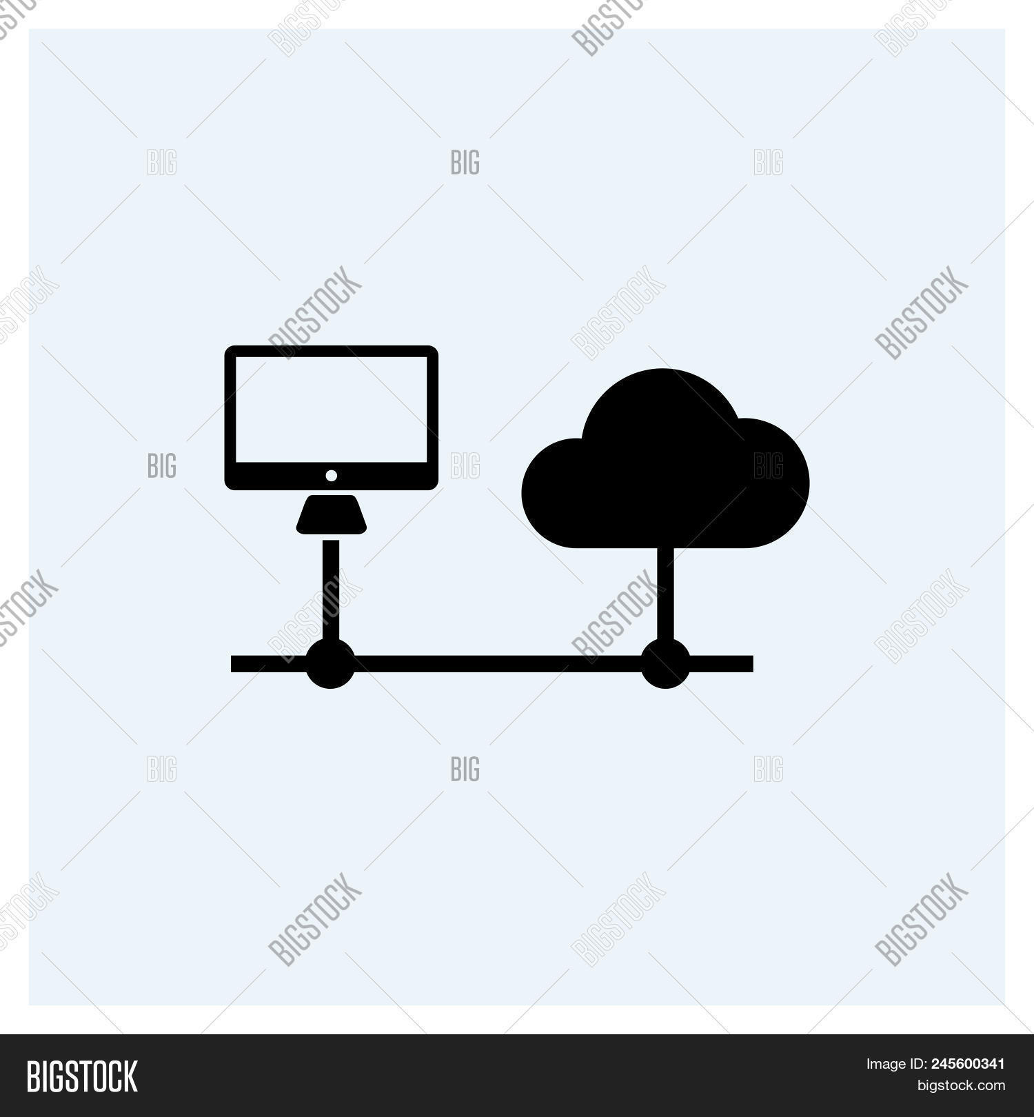Cloud Server Icon Vector & Photo (Free Trial) | Bigstock