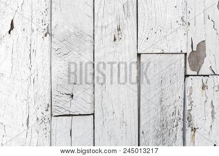 Weatherd White Wood Lath Line Arrange Pattern Textrue Background