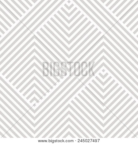 Vector Geometric Seamless Pattern. Modern Texture With Lines, Stripes. Simple Abstract Geometry Grap