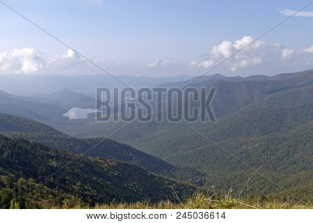 Mountain Wilderness High Elevation View From Mount Mitchell State Park In North Carolina, The Highes