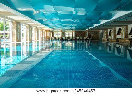 TEKIROVA TURKEY - MAY 05 2017: The popular resort Amara Dolce Vita Luxury Hotel. Type - all inclusive. Have pool, water park and recreational area along the Mediterranean seacoast. Tekirova-Kemer