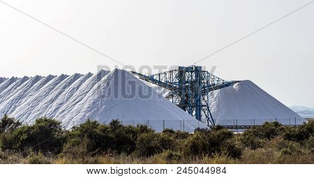 A View Of The Salt Hills Near Santa Pola, Spain