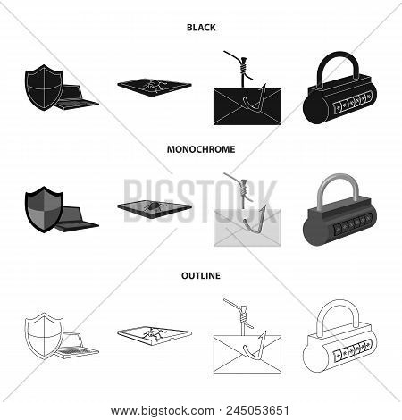 Hacker, System, Connection .hackers And Hacking Set Collection Icons In Black, Monochrome, Outline S