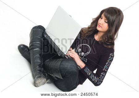 Girl With Lap Top