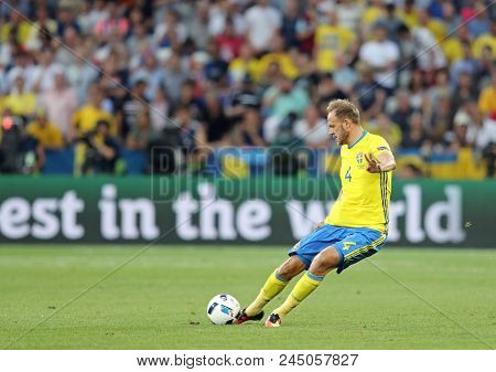 Nice, France - June 22, 2016: Defender Andreas Granqvist Of Sweden In Action During The Uefa Euro 20