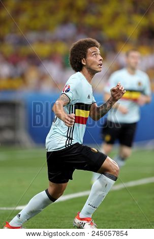 Nice, France - June 22, 2016: Axel Witsel Of Belgium In Action During The Uefa Euro 2016 Game Agains