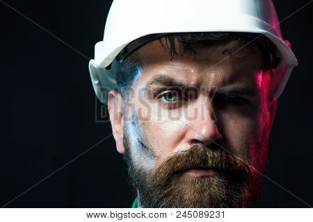 Architect, Worker, Engineer - Work. Industrial Worker. Hard Work. Business, Building, Industry, Tech