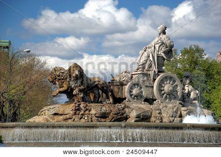 Madrid. Fountain of Cibeles.