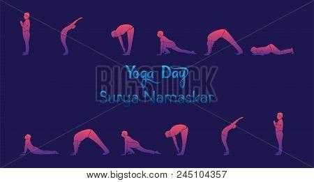 Yoga Infographics, Surya Namaskar Sequence Benefits Of Practice