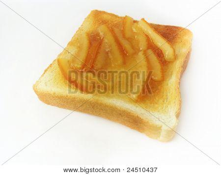 Marmalade on toast bread