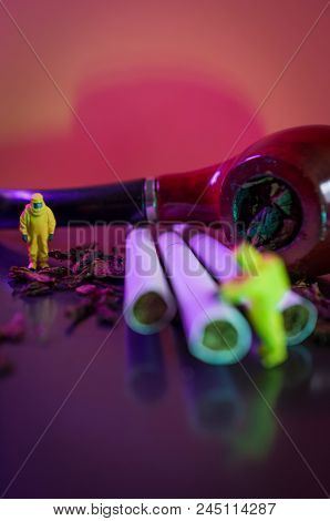Miniature Hazmat Team Inspects Hazardous Tobacco Products