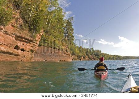 Kayaking Along The Shoreline