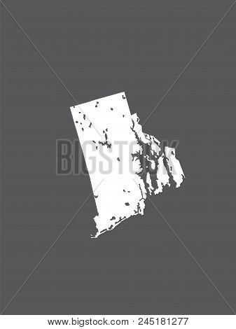 U.s. States - Map Of Rhode Island. Hand Made. Rivers And Lakes Are Shown. Please Look At My Other Im