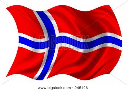 Norway Flag Psd