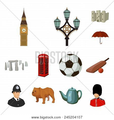 England Country Cartoon Icons In Set Collection For Design.travel And Attractions Vector Symbol Stoc