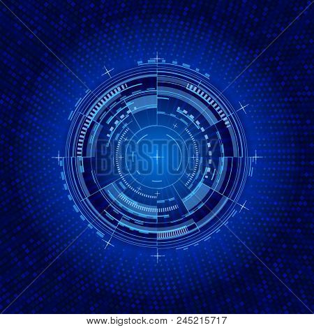 Futuristic Interface Circle. Techno Vector Illustration. User Round Circles Mechanical Image For Web