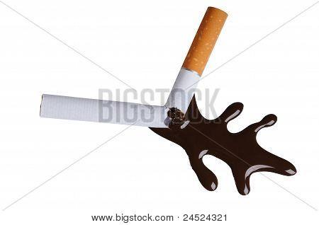 Broken cigaret