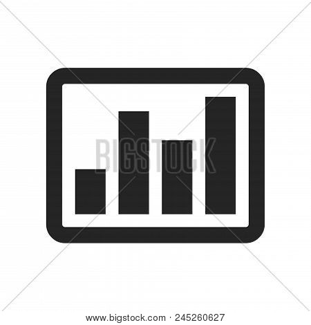 Bar Graph Icon Simple Vector Sign And Modern Symbol. Bar Graph Vector Icon Illustration, Editable St