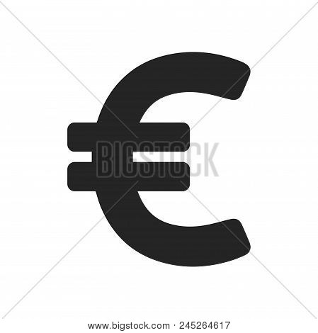 Euro Icon Simple Vector Sign And Modern Symbol. Euro Vector Icon Illustration, Editable Stroke Eleme