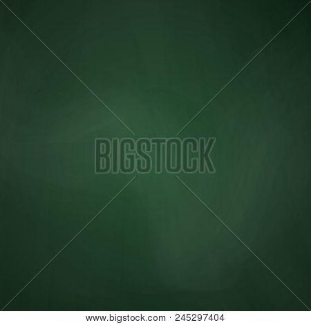 Empty Blackboard Dark Green Color. Chalkboard Template. School Blackboard Realistic Texture. Educati