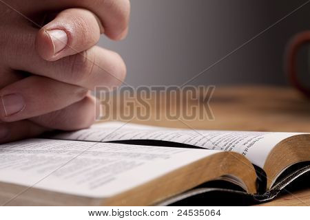 Praying Over Bible