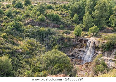 A Waterfall In The Historic Jouberts Pass At Lady Grey In The Eastern Cape Province