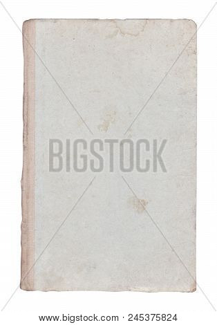 Very Old Book Cover Isolated On White.